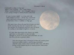 """""""Dreamer's Moon"""" Written by my Grandmother, Nancy Bond"""